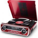 ION Mustang LP Turntable – Red, Red