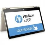 HP Pavilion x360 14-ba090sa 14″ Touchscreen 2 in 1 – Silk Gold, Gold
