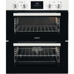 ZANUSSI ZOF35601WK Electric Built-under Double Oven – White Steel, White