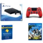 PLAYSTATION 4 PLAYSTATION 4 Slim, Horizon Zero Dawn, Docking Station & 3 Month PlayStation Plus Bundle