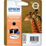 EPSON Giraffe T0711H Black Ink Cartridges – Twin Pack, Black
