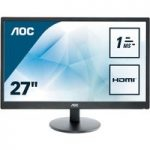 AOC e2770sh Full HD 27″ LED Monitor – Black, Black