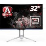 AOC AG322QCX Quad HD 31.5″ Curved LED Monitor – Black, Black
