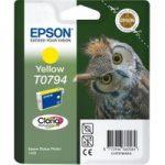EPSON T0794 Owl Yellow Ink Cartridge, Yellow