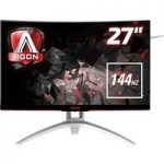 AOC AG272FCX Full HD 27″ Curved LCD Monitor – Black, Black