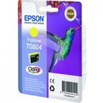 EPSON T0804 Hummingbird Yellow Ink Cartridge, Yellow