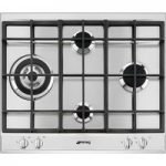 SMEG P261XGH Gas Hob – Stainless Steel, Stainless Steel