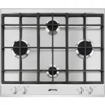 SMEG P260XGH Gas Hob – Stainless Steel, Stainless Steel