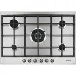 SMEG P372XGH Gas Hob – Stainless Steel, Stainless Steel