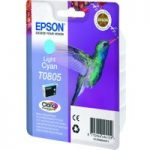 EPSON T0805 Hummingbird Light Cyan Ink Cartridge, Cyan