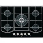 AEG HG753431NB Gas Hob – Black, Black