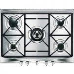 SMEG Cucina SR275XGH Gas Hob – Stainless Steel, Stainless Steel