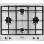 SMEG P360XGH Gas Hob – Stainless Steel, Stainless Steel