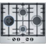 BOSCH PCI6A5B90 Gas Hob – Stainless Steel, Stainless Steel