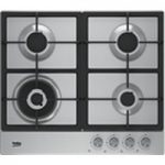 BEKO HCAW64225SX Gas Hob – Stainless Steel, Stainless Steel