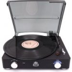 GPO Stylo II Turntable – Black, Black