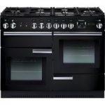 Rangemaster PROP110NGFGB/C Gas Range Cooker – Black, Black