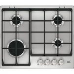 AEG HG654351SM Gas Hob – Stainless Steel, Stainless Steel