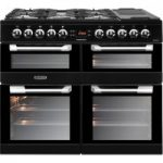LEISURE Cuisinemaster CS100F520K Dual Fuel Range Cooker – Black, Black