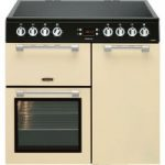 LEISURE Cookmaster CK90C230C 90 cm Electric Ceramic Range Cooker – Cream & Chrome, Cream