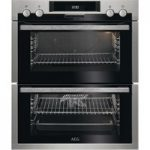 AEG DUE431110M Electric Double Oven – Stainless Steel & Black, Stainless Steel