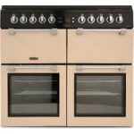 LEISURE Chefmaster CC100F521C 100 cm Dual Fuel Range Cooker – Cream & Black, Cream