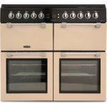 LEISURE Chefmaster CC100F521C 100 cm Dual Fuel Range Cooker – Cream & Black, Cream