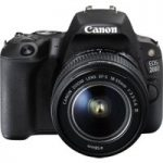 CANON EOS 200D DSLR Camera with EF-S 18-55 mm f/4-5.6 DC Lens – Black, Black