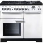 Rangemaster Professional Deluxe 100 Dual Fuel Range Cooker – White, White