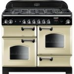 Rangemaster Classic 110 Dual Fuel Range Cooker – Cream & Chrome, Cream