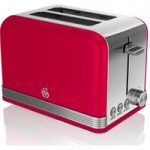 SWAN ST19010RN 2-Slice Toaster – Red, Red