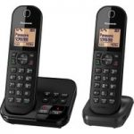 PANASONIC KX-TGC422EB Cordless Phone with Answering Machine – Twin Handsets
