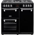 STOVES Ellingwood 90DFT Dual Fuel Range Cooker – Black & Chrome, Black