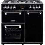 STOVES Ellingwood 90DFT Dual Fuel Range Cooker – Black & Chrome, Black