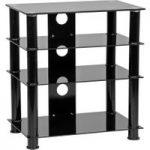 MMT LFBLK650 600 mm Hi-Fi Stand – Black, Black
