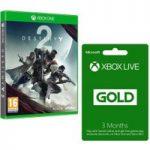 MICROSOFT Destiny 2 Bundle with 3 Month Xbox LIVE Gold Membership x 2, Gold