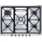 SMEG SE70SGH-5 Gas Hob – Stainless Steel, Stainless Steel