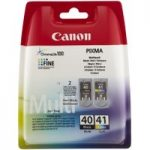 CANON PG-40/CL-41 Black & Colour Ink Cartridge – Multipack, Black