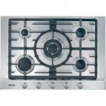 MIELE KM2032 Gas Hob – Stainless Steel, Stainless Steel