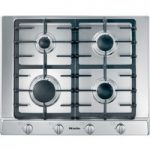 MIELE KM2010 Gas Hob – Stainless Steel, Stainless Steel