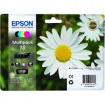 EPSON Daisy T1806 Cyan, Magenta, Yellow & Black Ink Cartridges – Multipack, Cyan