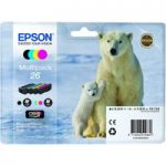EPSON Polar Bear T2616 Cyan, Magenta, Yellow & Black Ink Cartridges – Multipack, Cyan
