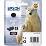 EPSON Polar Bear T2601 Black Ink Cartridge, Black