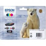 EPSON Polar Bear T2636 XL Cyan, Magenta, Yellow & Black Ink Cartridge – Multipack, Cyan