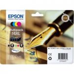 EPSON Pen & Crossword T1636 XL Cyan, Magenta, Yellow & Black Ink Cartridge – Multipack, Cyan