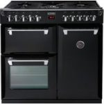 STOVES Richmond 900DFT Dual Fuel Range Cooker – Black, Black