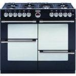 STOVES Sterling R1000DFT Dual Fuel Range Cooker – Black, Black