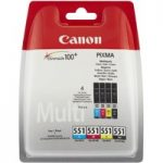 CANON CLI-551 Cyan, Magenta, Yellow & Black Ink Cartridges – Multipack, Cyan