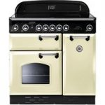 RANGEMASTER Classic 90E Electric Induction Range Cooker – Cream, Cream