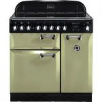 RANGEMASTER Elan 90 Electric Induction Range Cooker – Olive Green & Chrome, Olive